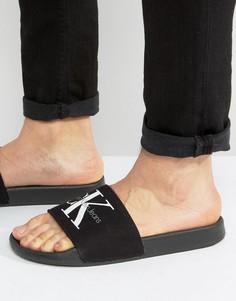 Шлепанцы с логотипом Calvin Klein Viggo - Черный