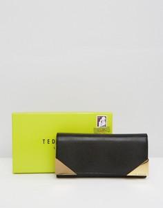 Бумажник с металлическими уголками Ted Baker - Черный