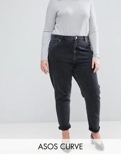 Джинсы в винтажном стиле из черного выбеленного денима ASOS CURVE Farleigh - Черный