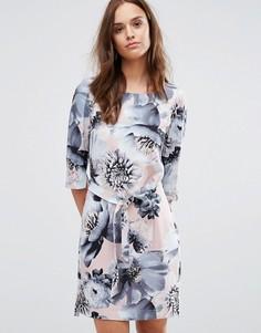 Платье с принтом Selected Femme 3/4 - Мульти