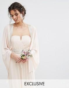 Накидка с изящной декоративной отделкой TFNC WEDDING - Розовый