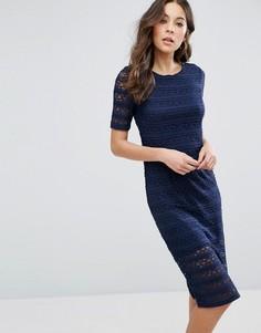 Кружевное облегающее платье BCBG - Синий