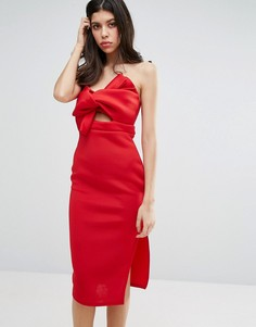 Облегающее платье с бантом New Look - Красный Missguided