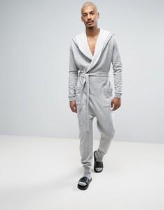 Серый меланжевый комбинезон-халат ASOS - Серый