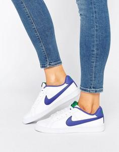 Белые с синим кроссовки Nike Court Royale - Мульти