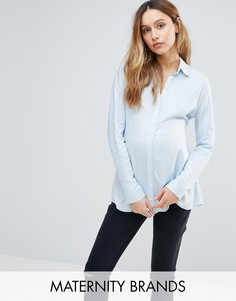 Рубашка из мягкой на ощупь ткани Isabella Oliver - Синий