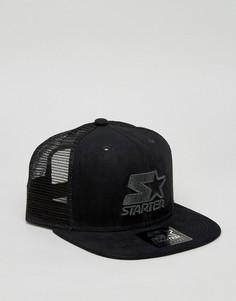 Черная бейсболка с логотипом Starter Trucker - Черный