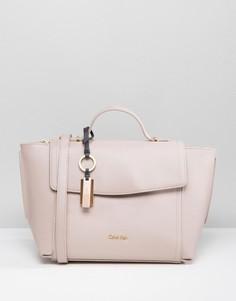 Телесная сумка-тоут Calvin Klein - Розовый