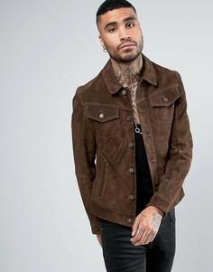 Замшевая куртка в стиле вестерн Goosecraft - Коричневый