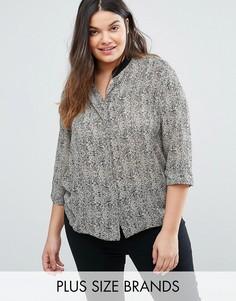 Блузка с геометрическим принтом Elvi Plus - Черный