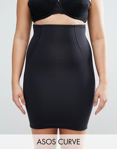 Моделирующая нижняя юбка с завышенной талией ASOS CURVE SHAPEWEAR - Черный
