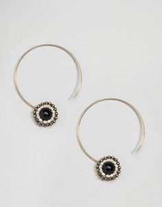 Серьги-кольца ограниченной серии с бусинами - Золотой Asos