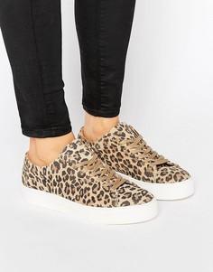 Кроссовки с леопардовым принтом Selected Femme - Мульти