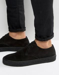Черные замшевые дерби на шнуровке ASOS - Черный