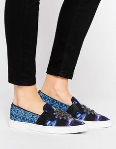 Кроссовки с отделкой камнями Ted Baker - Синий