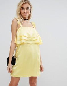 Платье с оборками Fashion Union - Желтый