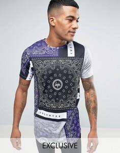 Серая футболка с платочным принтом Hype - Серый