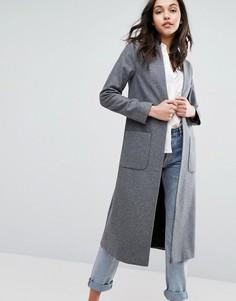 Легкое пальто без застежки Helene Berman - Серый