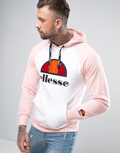 Худи с крупным логотипом и рукавами реглан Ellesse - Розовый