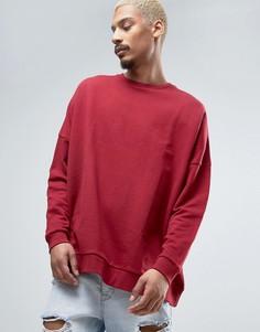 Красный oversize-свитшот ASOS - Розовый