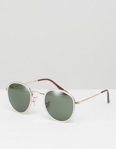Белые круглые солнцезащитные очки ASOS - Белый