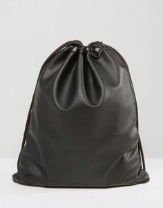 Черный рюкзак с затягивающимся шнурком Mi-Pac - Черный