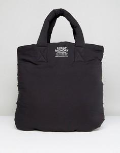 Уплотненная сумка-шоппер Cheap Monday - Черный