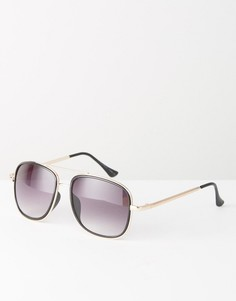 Большие солнцезащитные очки-авиаторы 7X - Черный