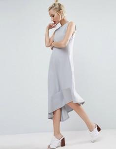 Платье миди асимметричной длины ASOS - Серый