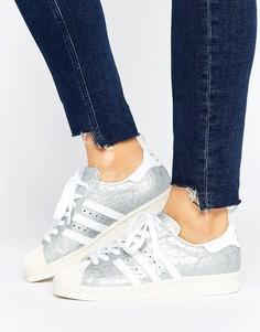 Кроссовки в стиле 80-х Adidas Superstar - Серебряный