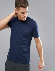 Темно-синяя футболка Nike Training Dry 2.0 706625-451 - Черный
