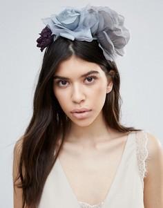 Ободок с серой цветочной отделкой Johnny Loves Rosie Bria - Серый