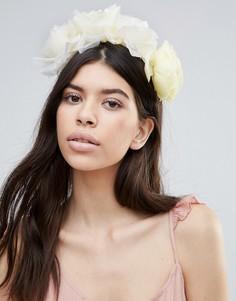 Кремовый ободок с цветочной отделкой Johnny Loves Rosie Isla - Кремовый