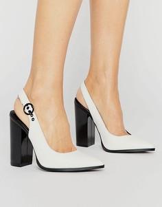 Туфли на каблуке из искусственной кожи с ремешком через пятку New Look - Мульти