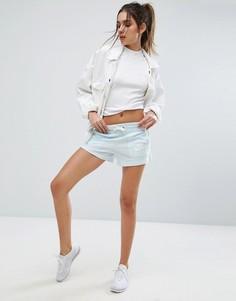 Голубые шорты в винтажном стиле Nike - Синий