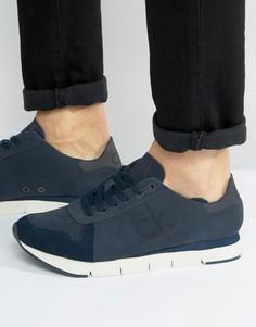 Кроссовки из нубука Calvin Klein Hachi Runner - Темно-синий