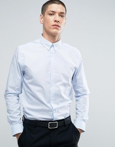Строгая узкая рубашка в полоску Burton Menswear - Синий