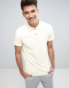 Желтое узкое поло из ткани пике Hollister - Желтый