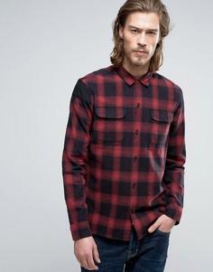 Рубашка в клетку узкого кроя AllSaints - Красный