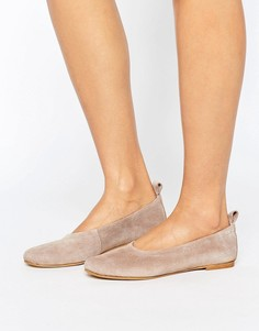 Замшевые балетки Vero Moda - Серый