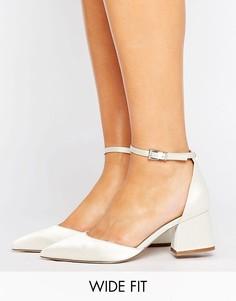 Туфли на каблуке для широкой стопы с острым носом ASOS STARLING - Белый