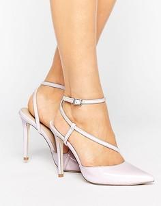 Асимметричные туфли на каблуке ASOS POKER - Фиолетовый
