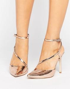 Асимметричные туфли на каблуке ASOS POKER - Золотой