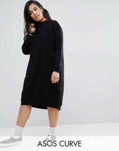 Трикотажное платье ASOS CURVE - Черный