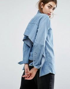 Джинсовая рубашка с открытой спиной Cheap Monday - Синий