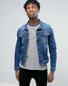 Джинсовая куртка в стиле вестерн Pepe Jeans - Синий