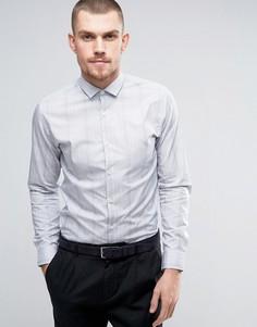 Узкая рубашка в клетку Selected Homme - Белый