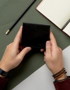 Кожаный бумажник с принтом на внутренней части Ted Baker - Черный
