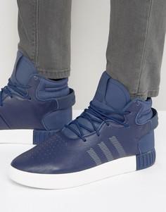 Синие кроссовки adidas Originals Tubular Invader - Синий