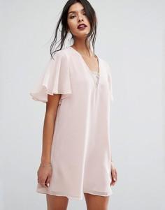 Короткое платье бандо BCBG Generation - Розовый